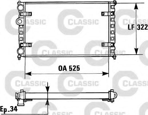 Радиатор, охлаждение двигателя VALEO арт. 230947