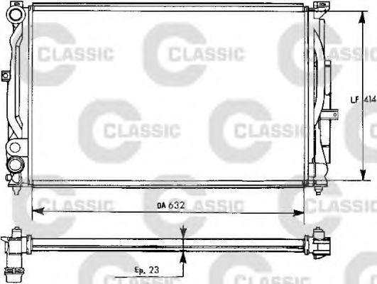 Радиатор, охлаждение двигателя VALEO арт. 231537