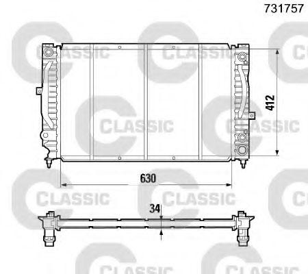 Радиатор, охлаждение двигателя VALEO арт. 231757