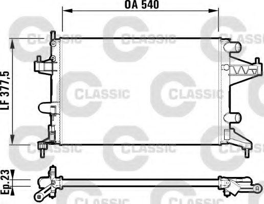 Радиатор, охлаждение двигателя VALEO арт. 232825