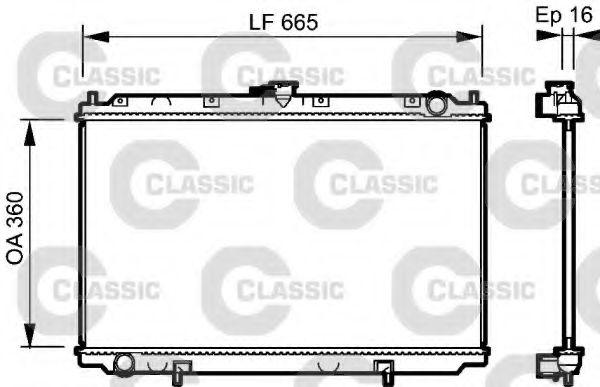 Радиатор, охлаждение двигателя VALEO арт. 232528