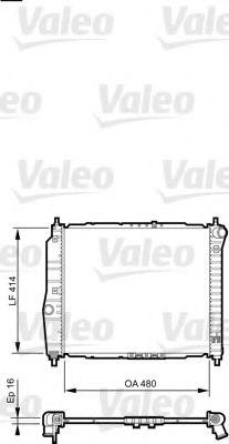 Радіатор охолоджування Valeo 735157