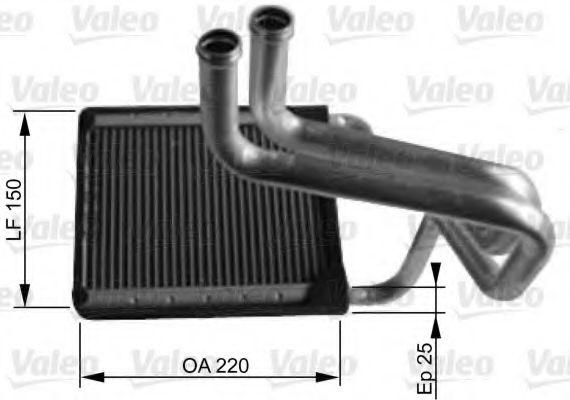 Теплообменник, отопление салона VALEO арт. 812430