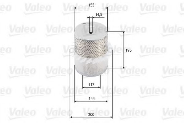 Воздушный фильтр VALEO арт.