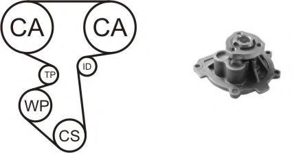 Водяной насос + комплект зубчатого ремня AIRTEX арт.