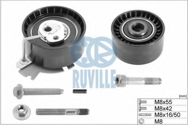 Комплект роликов, зубчатый ремень RUVILLE арт. 5663850