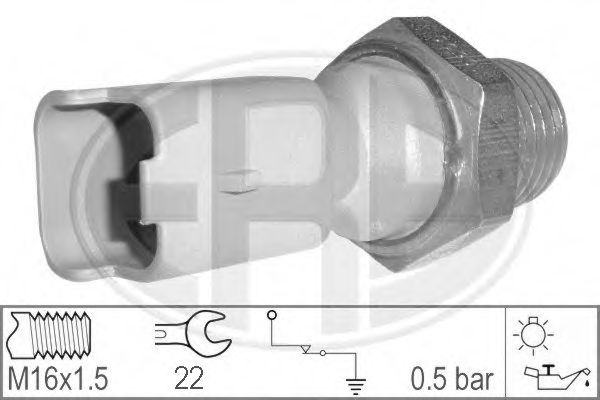 Датчик давления масла ERA арт. 330026