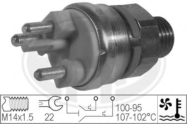 Термовыключатель, вентилятор радиатора ERA арт. 330216