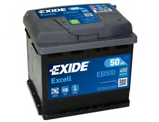 Стартерная аккумуляторная батарея EXIDE арт. EB500