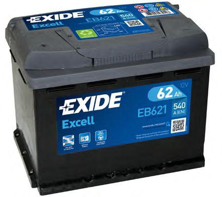 Стартерная аккумуляторная батарея EXIDE арт. EB621