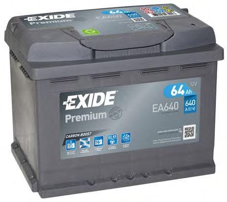 Стартерная аккумуляторная батарея EXIDE арт. EA640