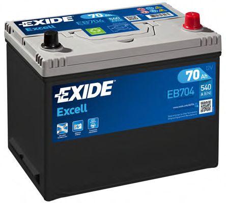 Стартерная аккумуляторная батарея EXIDE арт. EB704