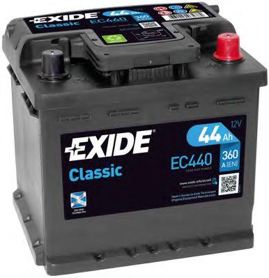 Стартерная аккумуляторная батарея EXIDE арт. EC440