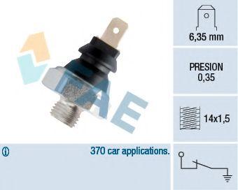 Датчик давления масла FAE арт. 11410