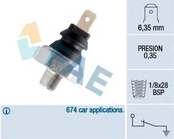 Датчик давления масла FAE арт. 11610