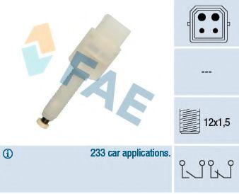 Выключатель фонаря сигнала торможения FAE арт. 24565