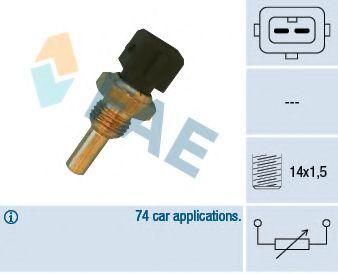 Датчик, температура охлаждающей жидкости FAE арт. 32560