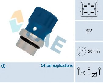 Датчик, температура охлаждающей жидкости FAE арт.