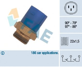 Термовыключатель, вентилятор радиатора FAE арт. 38170