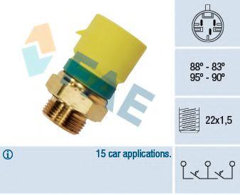 Термовыключатель, вентилятор радиатора FAE арт. 38210