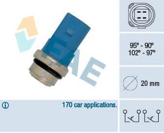 Термовыключатель, вентилятор радиатора FAE арт.