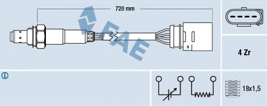 Лямбда-зонд FAE арт. 77139