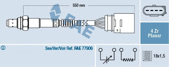 Лямбда-зонд FAE арт. 77148