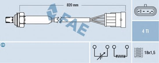 Лямбда-зонд FAE арт. 77184