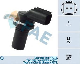 Датчик частоты вращения, автоматическая коробка передач FAE арт. 79136