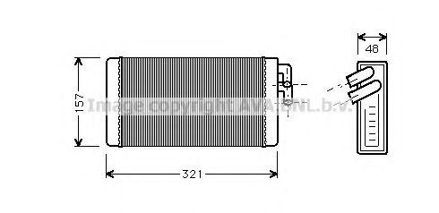 Теплообменник, отопление салона AVAQUALITYCOOLING арт. AI6052