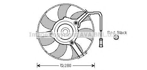 Вентилятор, охлаждение двигателя AVAQUALITYCOOLING арт. AI7504