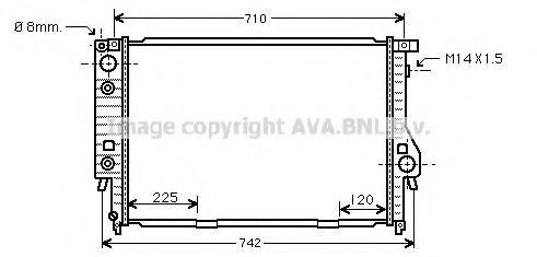 Радиатор, охлаждение двигателя AVAQUALITYCOOLING арт. BW2094