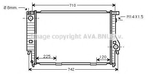 Радиатор, охлаждение двигателя AVAQUALITYCOOLING арт. BW2095