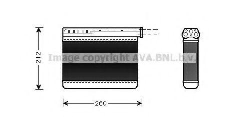 Теплообменник, отопление салона AVAQUALITYCOOLING арт. BW6166