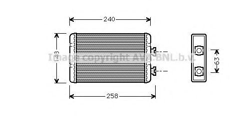 Радiатор опалення AVA BW6210