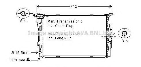 Радиатор, охлаждение двигателя AVAQUALITYCOOLING арт. BWA2292