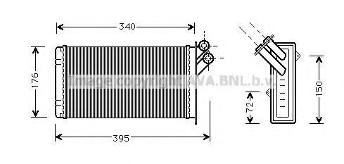 Теплообменник, отопление салона AVAQUALITYCOOLING арт. CN6129