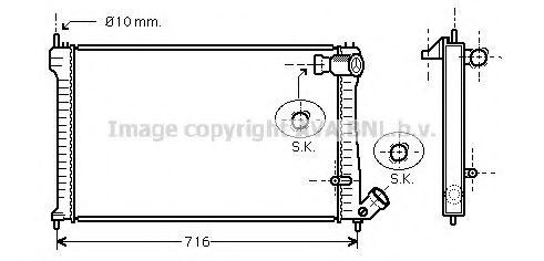 Радиатор, охлаждение двигателя AVAQUALITYCOOLING арт. CNA2102