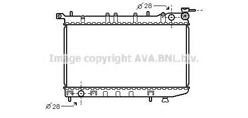 Радиатор, охлаждение двигателя AVAQUALITYCOOLING арт. DN2123