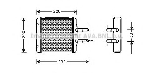 Радiатор опалення AVA DW6027