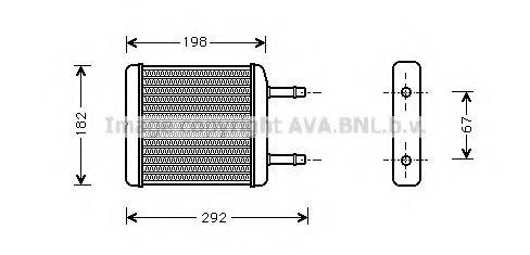 Радiатор опалення AVA DWA6024