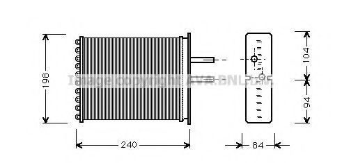 Радiатор опалення AVA FT6193