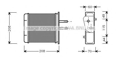 Радiатор опалення AVA FTA6150