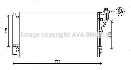 Конденсатор, кондиционер AVAQUALITYCOOLING арт. HYA5246D