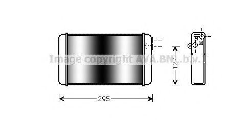 Теплообменник, отопление салона AVAQUALITYCOOLING арт. OLA6116
