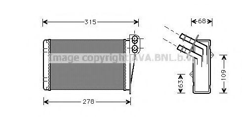 Теплообменник, отопление салона AVAQUALITYCOOLING арт. RT6228
