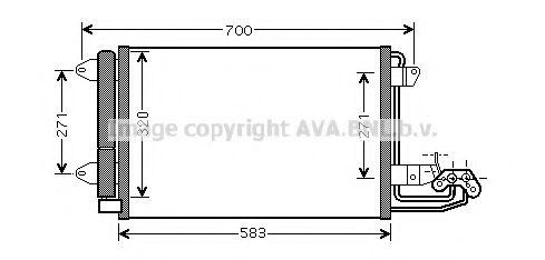 Конденсатор, кондиционер AVAQUALITYCOOLING арт. VW5209D