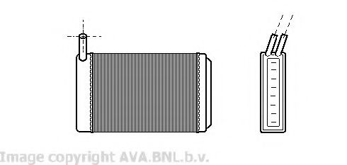 Теплообменник, отопление салона AVAQUALITYCOOLING арт. VW6061