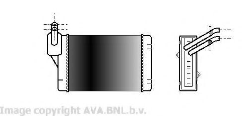 Теплообменник, отопление салона AVAQUALITYCOOLING арт. VW6069