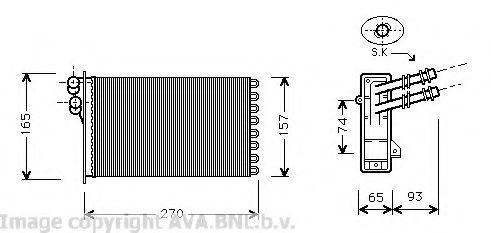 Радiатор опалення AVA VW6173